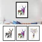 Deer Family Canvas Art Print Painting Poster Wall Picture Home Decor Unframed