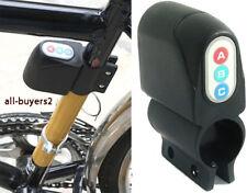 Allarme acustico con codice per bicicletta bici antifurto lucchetto catena moto