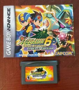 Megaman Battle Network 6 Cybeast Gregar  Game Boy Advance Cartridge & Manual