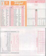 TOTOGOL SCHEDA  N.8 A 30 PARTITE DEL 30 10 1994