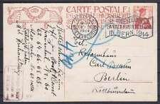 Schweiz 1914 Ganzsache mit Flaggenstempel Berlin Landesausstellung - Berlin