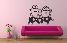 3 Minions Family Girl Boy Kids Quote Wall Stickers Art Room Removable Decals DIY
