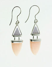 Pink Calcite and Lavender Aventurine Sterling Silver Drop Dangle Earrings