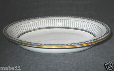 "WEDGWOOD COLONNADE BLACK 10"" RIMMED OVAL SERVING BOWL"