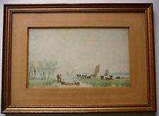 Peinture de La Brière au XIXème Siècle. Loire Atlantique.