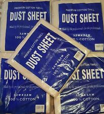 SINGLE DUST SHEET 100% COTTON TWILL PROFESSIONAL DECORATOR QUALITY