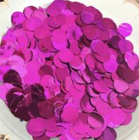 25g Big Pack Pink Foil Confetti Round 1,5cm Wedding Party Table Decoration