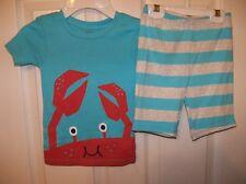 Carter's Crab Seafood Beach Short 2 Piece Pajama PJ Set Boys Size 3T NWT