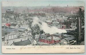 Atchison Kansas~Bird's-Eye View~c1905 Postcard