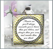 Winnie Puuh Zitat versprich mir werden Sie merken Anhänger Charm oder Schlüsselanhänger