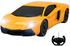 LAMBO AVENTADOR REMOTE CONTROL CAR LED LIGHT 1:16 FAST SPEED ORANGE YELLOW