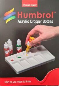 Humbrol P1159 Acrylic Dropper Bottle Colour Chart