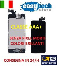 DISPLAY  IPHONE 5 ASSEMBLATO COMPLETO -FOTOCAMERA -TASTO HOME- ALTOPARLANTE NERO