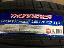 4 NEW 265/70-17 Thunderer Ranger SUV HT603  Tires 265 70R17 70R 2657017