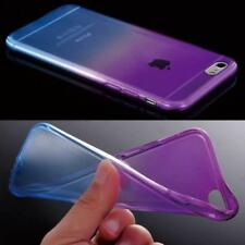 Ombre Colorful Silicone/Gel/TPU Clear Case Cover For iPhone SE 5S 5C 6S 7 8 Plus