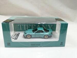 Timemicro 1/64 scale MAZDA RX-7 FD3S ROCKET BUNNY Tiffany Blue NEW JDM Model