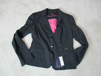 NEW Harmont & Blaine Blazer Jacket Womens Large EUR 46 Black Button Up $350