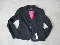 NEW Harmont & Blaine Blazer Jacket Womens Large EUR 46 Black Button Up $350