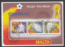 Malta Block 7 gestempelt Fußballweltmeisterschaft in Spanien