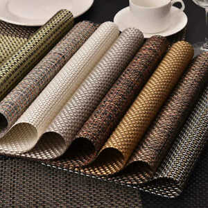 Non-Slip Placemat Waterproof Printed Dining Table Mat PP Plastic Heat-insulated