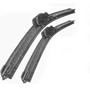 Wiper Blades Aero For Nissan Exa COUPE 1987-1991 FRONT PAIR 2 x BLADES