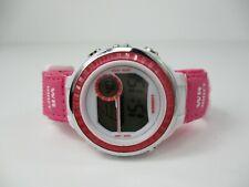 Digital Sports Watch- Pink Adjustable Band Hook & Loop Closure Water Resistant