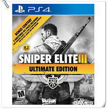 PS4 Sniper Elite III 3 Ultimate Edition SONY PLAYSTATION Games Action 505 Games