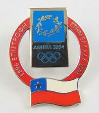 Athens Olympic Games 2004 Pin Badge - Official Country Flag By Trofe - Chile