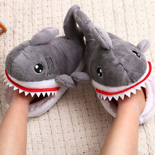 Men Women Shark Shape Novelty Slippers Animal Funny Indoor Home House Shoes
