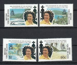 (89608) British Virgin Islands Queen 40 years Accession 1992 MNH