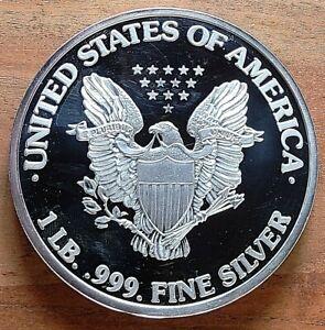 1999 USA 1 Pound Pure Silver Eagle - 999 Fine Silver Large Round - Proof