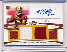 2012 TOPPS PRIME ROBERT GRIFFIN III AUTOGRAPH RELIC 35/50