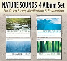 4 CDS: Wilderness Stream, Ocean Sounds, Relaxing Rain, Music for Healing BOX SET