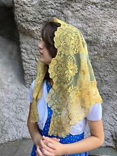 Gold on Gold Spanish style veils and mantilla Catholic church chapel lace L