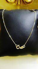 collier or Jaune 750 18k Karat 50cm Femme homme Maille vènitienne Gold Halskette