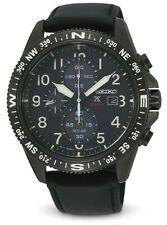 Seiko SSC707P1 Men's Prospex Land Solar Chrono Blk Leather Strap Watch RRP £350!