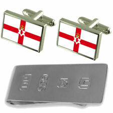 Northern Ireland (Unofficial) Flag Cufflinks & James Bond Money Clip
