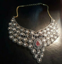 & Ruby Victorian Necklace Jewelry Natural Rosecut Diamond Uncut Diamond Polki