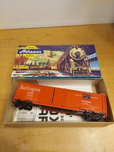ATHEARN BURLINGTON ROUTE RED 50' DD BOX CAR RTR MW KD's CAR # 48500 ITEM # 1310