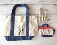 Peanuts Snoopy × nano universe 2 Way Tote Bag w/Woodstock Mini Bag Set Japan