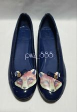 TORY BURCH Cat Patent Leather Moccasins Ballerina Doll shoes Flats Size 36