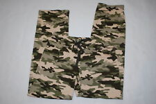 b6a77e2b2e372 Womens Pajama Pants GREEN & BEIGE CAMO Super Soft Knit SLEEP LOUNGE Size S  ...