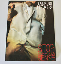 Talking Heads Stop Making Sense 1984 movie booklet distress