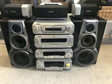 Technics Stack Stereo System 5 Disc Cassette FM Radio Amplifier Sound Player Hif