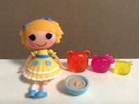 """LALALOOPSY MINI DOLL LOT CURLS N LOCKS Pet Bears Goldilocks Accessories 3.5"""" HTF"""