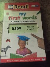 "Your Baby Can Read Book ""My First Words"" Large 10x6 inch SLIDER BOOK"