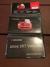 2005 Dodge Ram SRT-10 Owners Manual With Case OEM Free Shipping