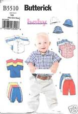 B5510 INFANTS, T-SHIRTS, PANTS, HAT, SIZES NB-MED BUTTERICK PATTERN 5510