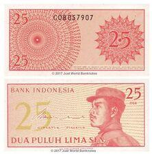 Indonésie 25 sen 1964 P-93 billets UNC