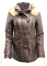 Cappotti e giacche da donna Parka marrone con cerniera